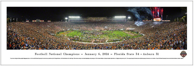 Florida State Seminoles 2014 BCS Football Championship Panoramic Print - Rose Bowl
