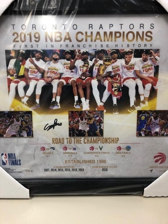 Pascal Siakam Autographed. Toronto Raptors 2019 NBA Champions 15x17 Framed Piece
