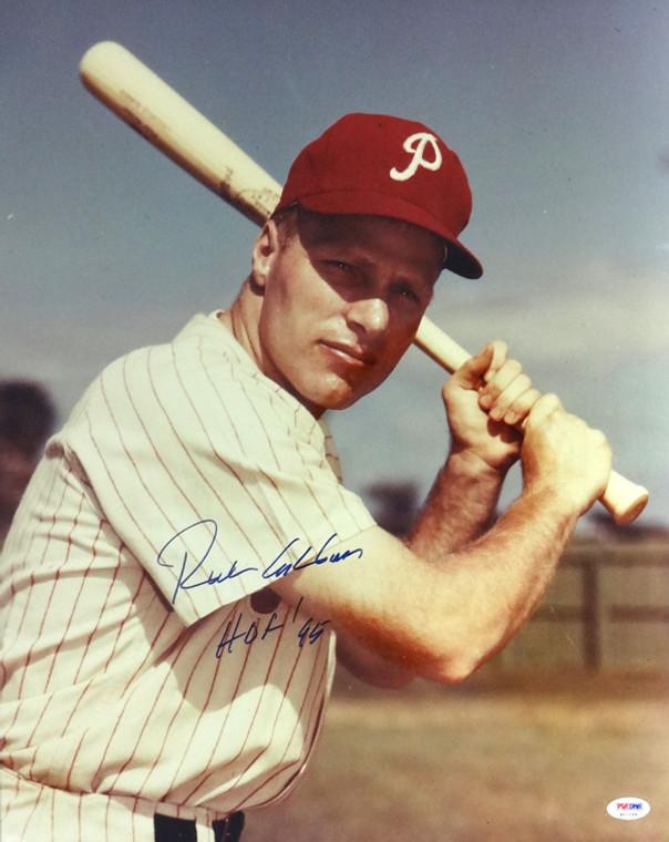 Richie Ashburn Autographed 16x20 Photo - Philadelphia Phillies  Unlicensed HOF 95 PSA/DNA