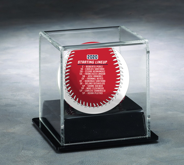 Cleveland Indians 2020 Opening Day Baseball with Display Case