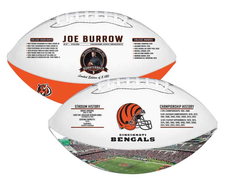 Joe Burrow Cincinnati Bengals Limited Edition Embossed Football 2020