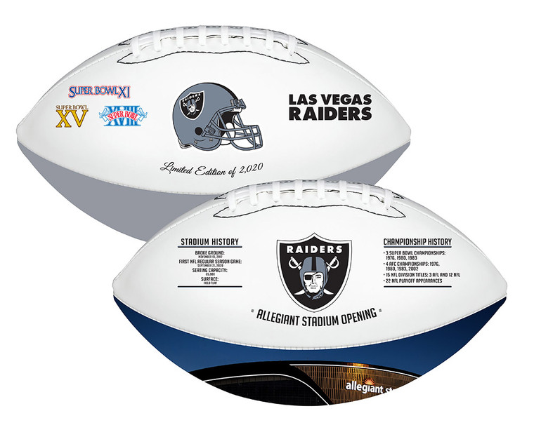 Las Vegas Raiders Exclusive 2020 Full-Size Licensed Rawlings Limited Edition Football