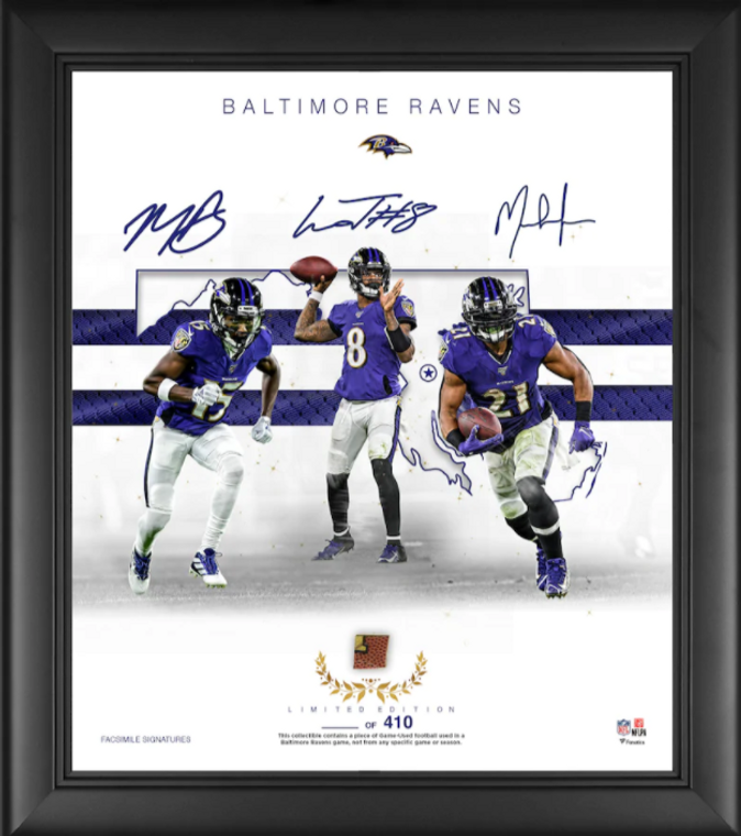 """Baltimore Ravens Authentic Framed 15"""" x 17"""" Franchise Foundations Collage-Limited Edition of 410"""