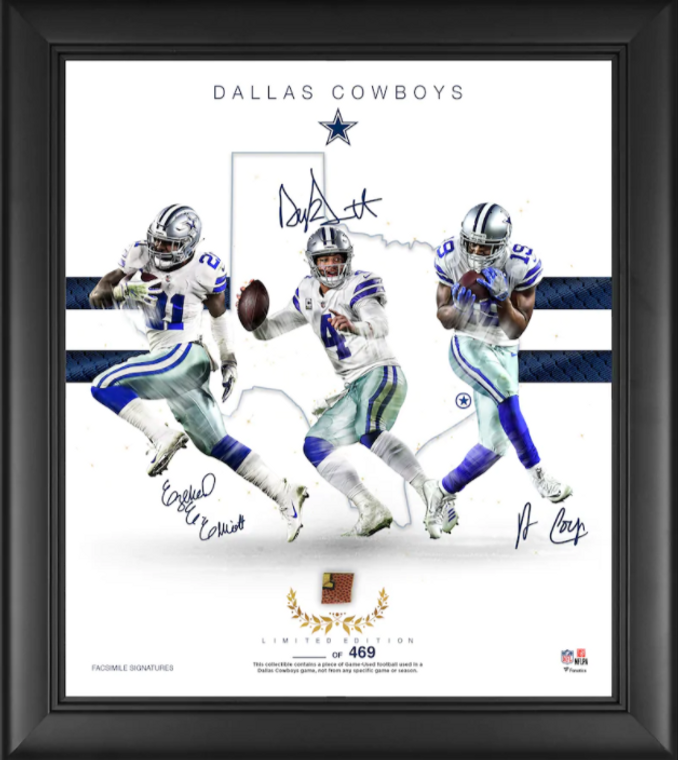 "Dallas Cowboys Authentic Framed 15"" x 17"" Franchise Foundations Collage-Limited Edition of 469"