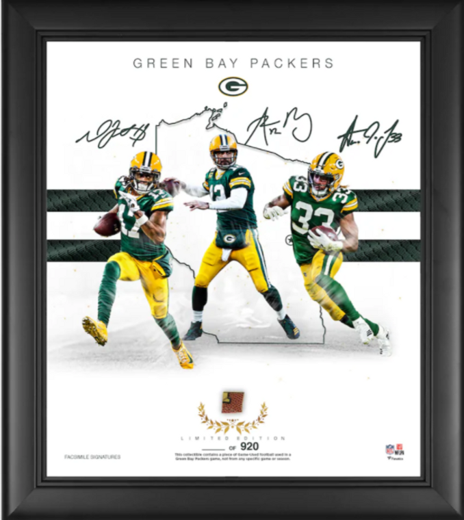 """Green Bay Packers Authentic Framed 15"""" x 17"""" Franchise Foundations Collage-Limited Edition of 920"""