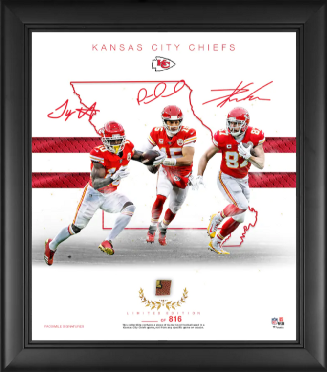 """Kansas City Chiefs Authentic Framed 15"""" x 17"""" Franchise Foundations Collage-Limited Edition of 816"""