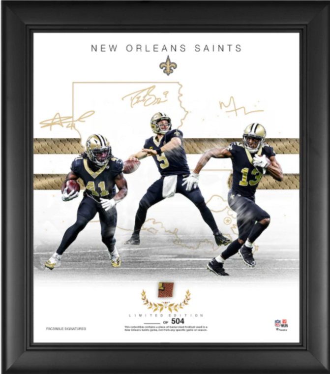 """New Orleans Saints Authentic Framed 15"""" x 17"""" Franchise Foundations Collage-Limited Edition of 816"""