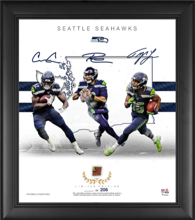 Seattle Seahawks Authentic Framed Franchise Foundations Collage 15 x 17-Limited Edition of 206