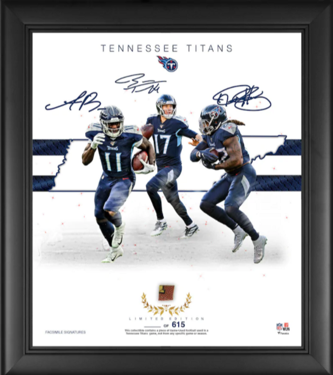 """Tennessee Titans Authentic Framed 15"""" x 17"""" Franchise Foundations Collage-Limited Edition of 615"""