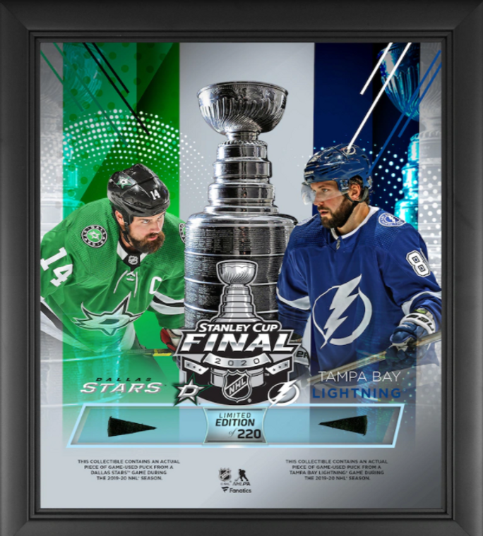 Dallas Stars vs. Tampa Bay Lightning NHL 2020 Stanley Cup Authentic Framed 15 x 17 Final Bound Dueling Match-Up Collage-Limited Edition