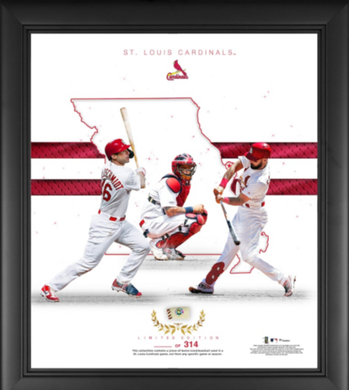 St. Louis Cardinals Authentic Framed Franchise Foundations Collage with a Piece of Game Used Baseball - Limited Edition 314
