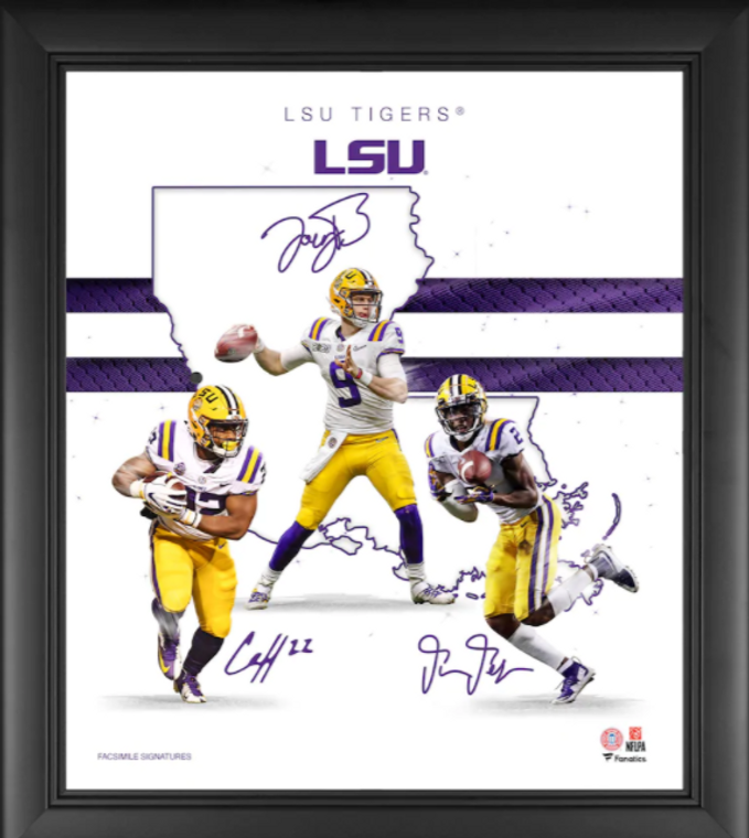 """LSU Tigers Fanatics Authentic Framed 15"""" x 17"""" 2020 Champions Franchise Foundations Collage"""