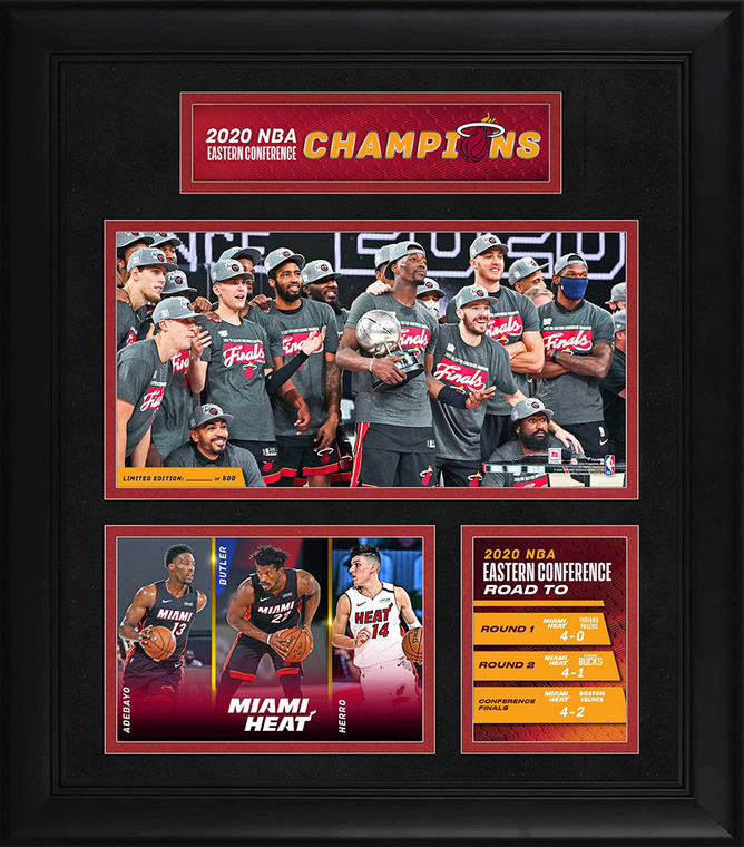 Miami Heat Eastern Conference Champions 2020 Limited Edition Exclusive Framed 15 x 17