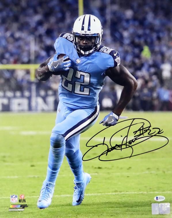 Derrick Henry Autographed 16x20 Photo Tennessee Titans Beckett BAS