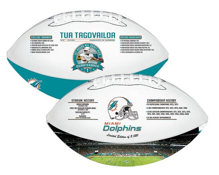 Tua Tagovailoa Miami Dolphins Exclusive 2020 Full-Size Licensed Limited Edition Football