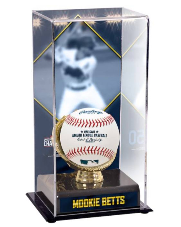 Mookie Betts LA Dodgers 2020 MLB World Series Champions Sublimated Display Case with Image