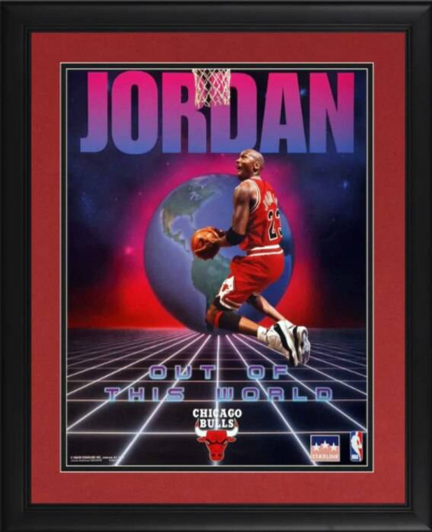 Michael Jordan Chicago Bulls Framed Unsigned 16 x 20 Out of this World Poster