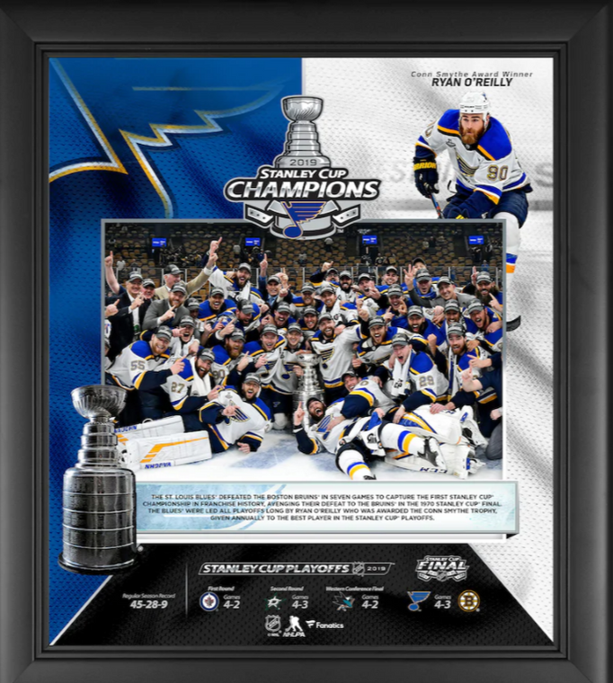 St. Louis Blues 2019 Stanley Cup Champions Framed Collage