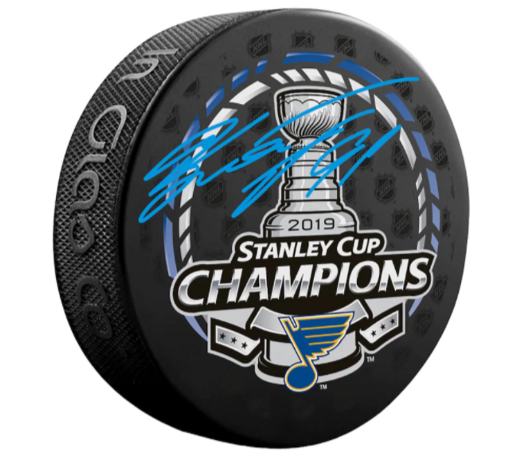 Vladimir Tarasenko St. Louis Blues 2019 Stanley Cup Champions Autographed Stanley Cup Champions Logo Hockey Puck
