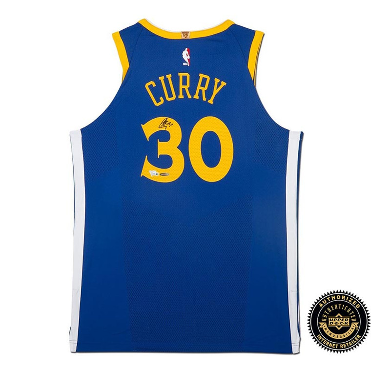 Stephen Curry Autographed Golden State Warriors Blue Authentic Nike Jersey