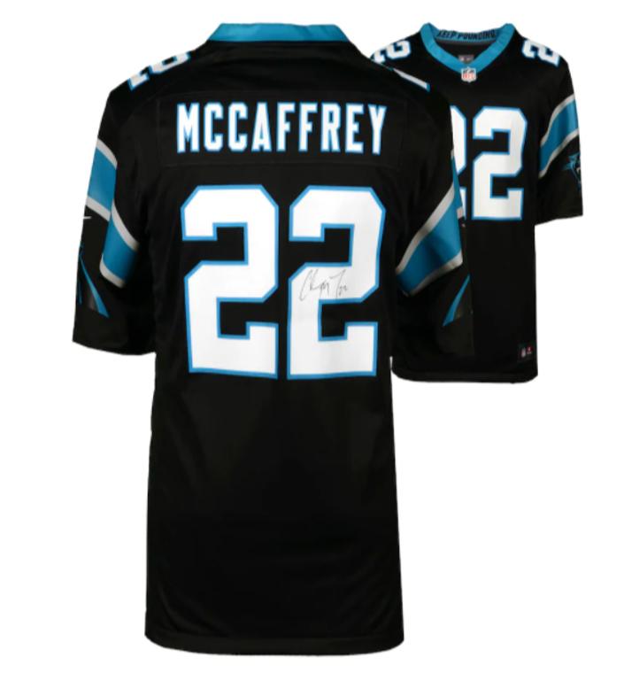 Christian McCaffrey Carolina Panthers Signed Nike Game Black Jersey