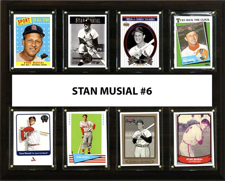 Stan Musial St.Louis Cardinals All-Time Greats MLB 12 x 15 8 Card Plaque