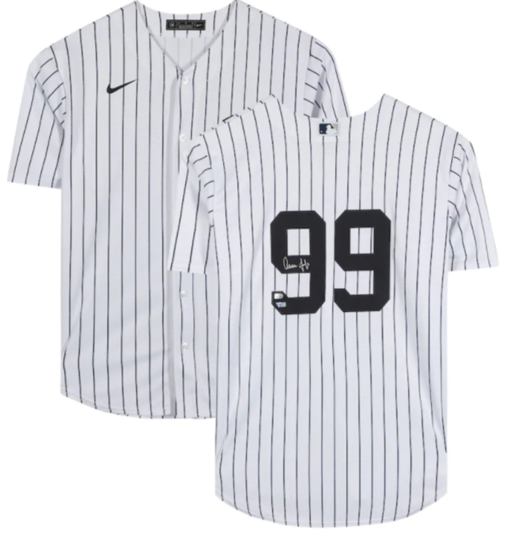 Aaron Judge Yankees Autographed White Nike Replica Jersey