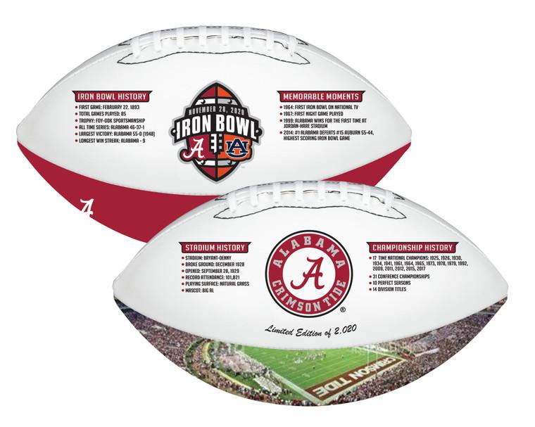 Alabama Crimson Tide Iron Bowl History Exclusive Football Limited Edition