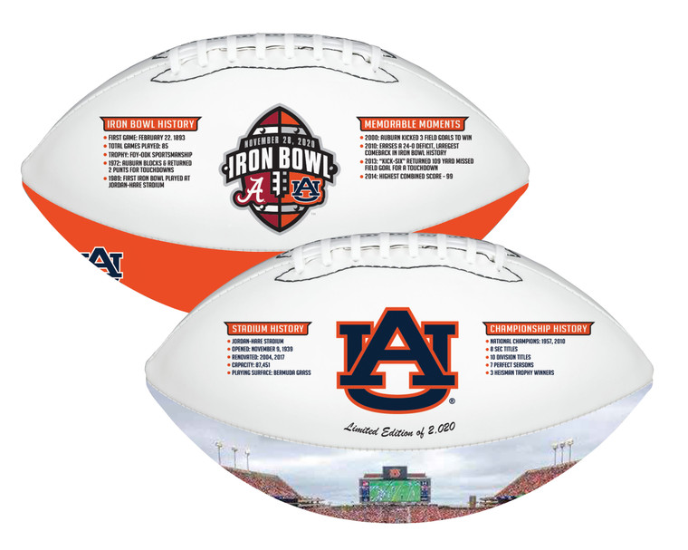 Auburn Tigers Iron Bowl History Exclusive Football Limited Edition