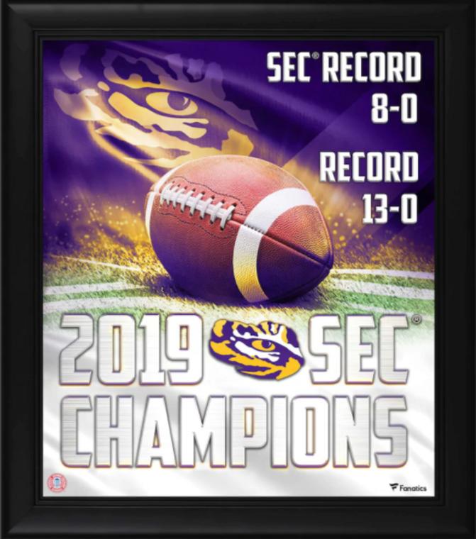 "LSU Tigers Framed 15"" x 17"" 2019 SEC Football Champions Collage"