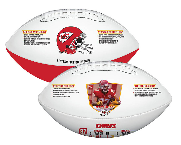 Travis Kelce Kansas City Chiefs 2020 Exclusive Limited Edition Football
