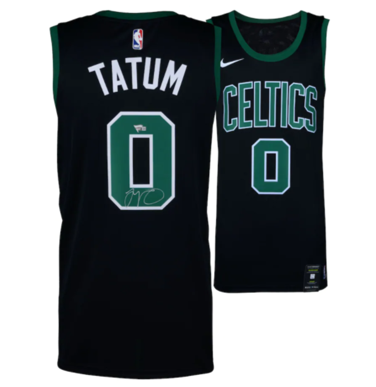 Jayson Tatum Boston Celtics Signed Nike Black Swingman Jersey