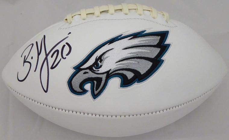Brian Dawkins Signed Philadelphia Eagles White Logo Football