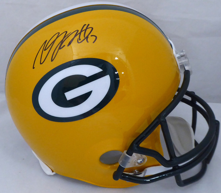 Davante Adams Signed/Autographed Green Bay Packers Full Size Replica Helmet