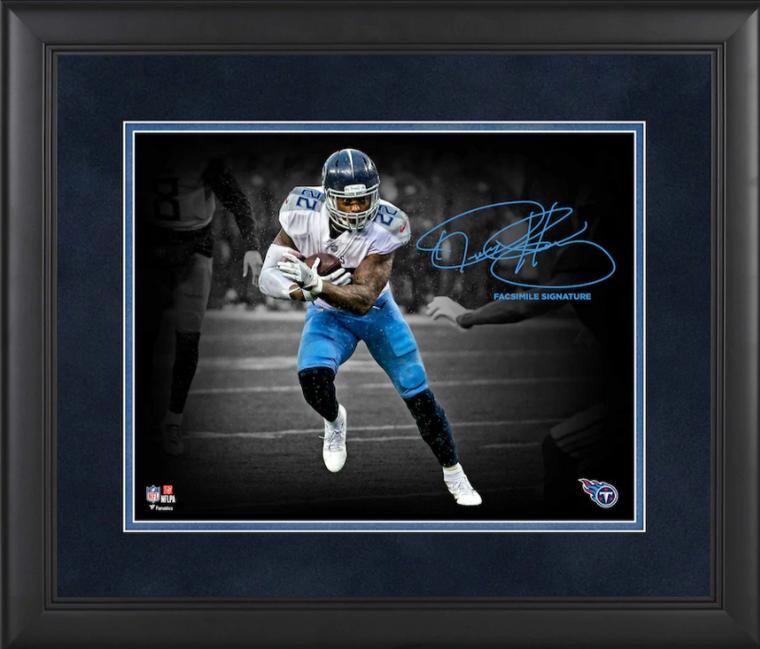 Derrick Henry Tennessee Titans Framed Spotlight Photograph - Facsimile Signature