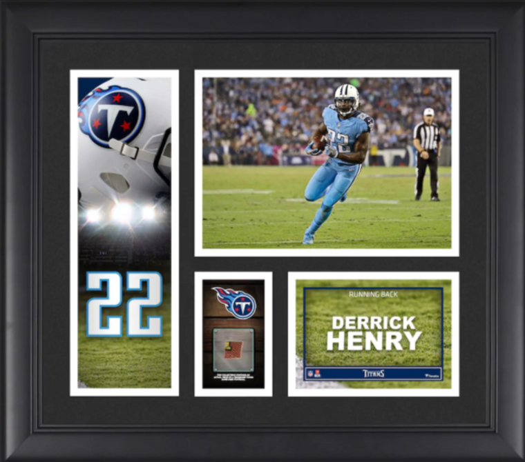 Derrick Henry Tennessee Titans Framed Player Collage with a Piece of Game-Used Football