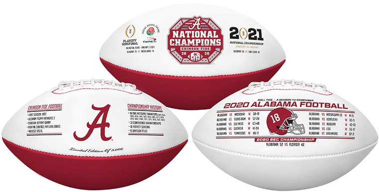 Alabama Crimson Tide 2020 National Champion Commemorative Football Exclusive Limited Edition