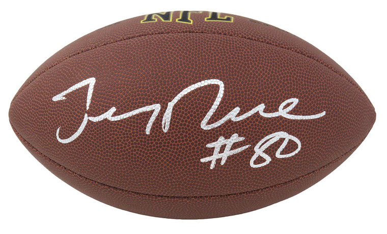 Jerry Rice Autographed 49ers Wilson Full Size NFL Football