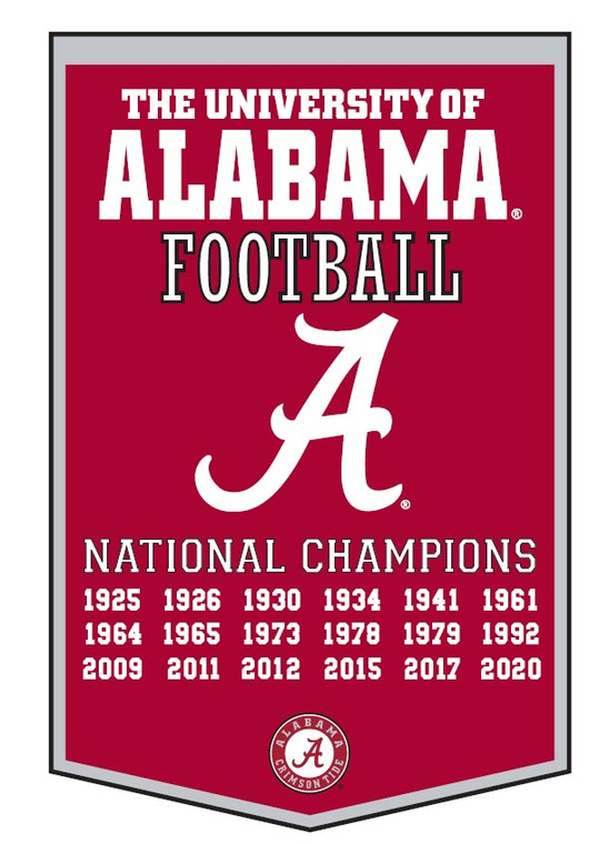 Alabama Crimson Tide National Champion Dynasty Banner