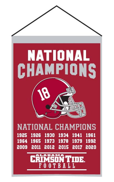 Alabama Crimson Tide Champs Banner 2020