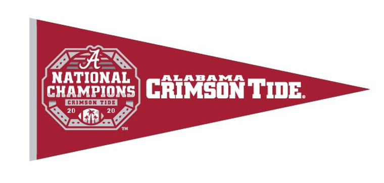 Alabama Crimson Tide National Championship Pennant 2020