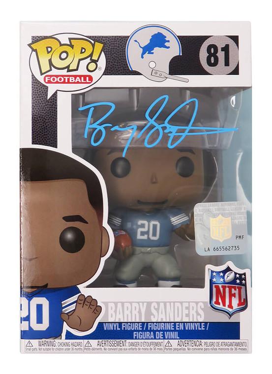 Barry Sanders Detroit Lions Autographed NFL Legends Funko Pop Doll #81