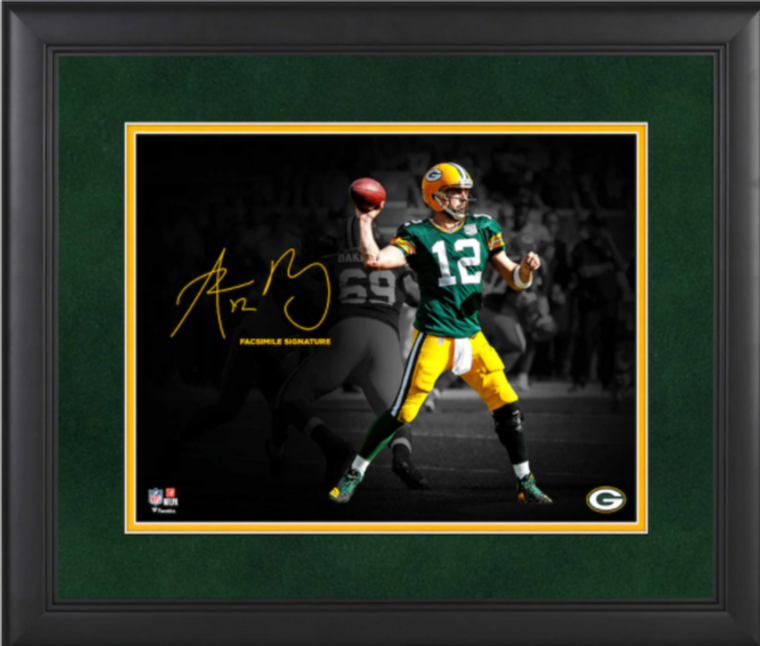 Aaron Rodgers Green Bay Packers Framed Spotlight Photograph