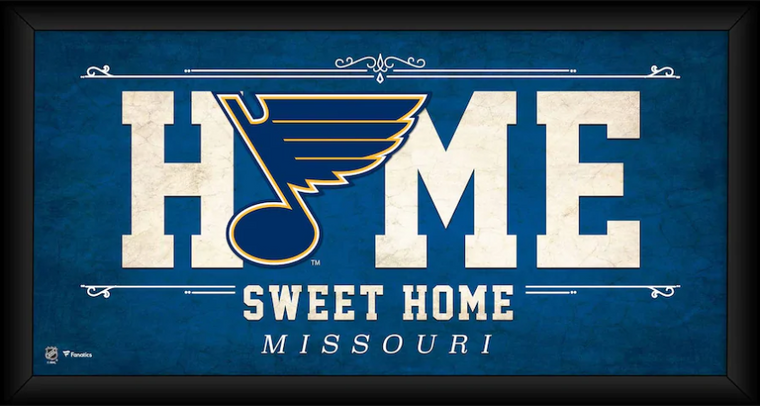 """St. Louis Blues Framed 10"""" x 20"""" Home Sweet Home Collage"""