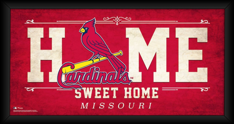 """St. Louis Cardinals Framed 10"""" x 20"""" Home Sweet Home Collage"""