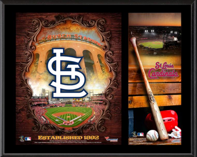 """St. Louis Cardinals 12"""" x 15"""" Sublimated Team Logo Plaque"""