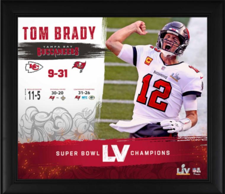 Tom Brady Tampa Bay Bucs Framed SB LV Champions Collage