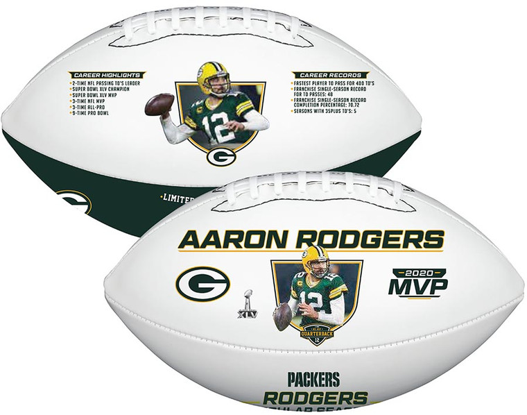 Aaron Rodgers MVP Green Bay Packers Football Limited Edition