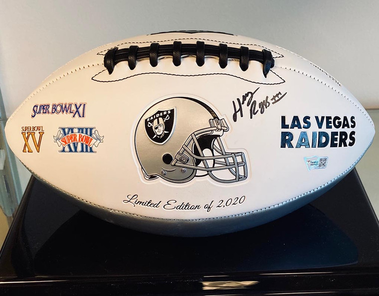 Henry Ruggs Autographed Las Vegas Raiders Exclusive 2020 Full-Size Limited Edition Football