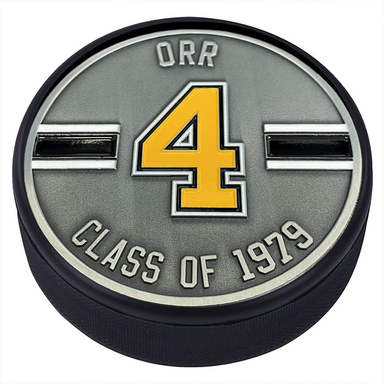 Bobby Orr Boston Bruins #4 Medallion Puck